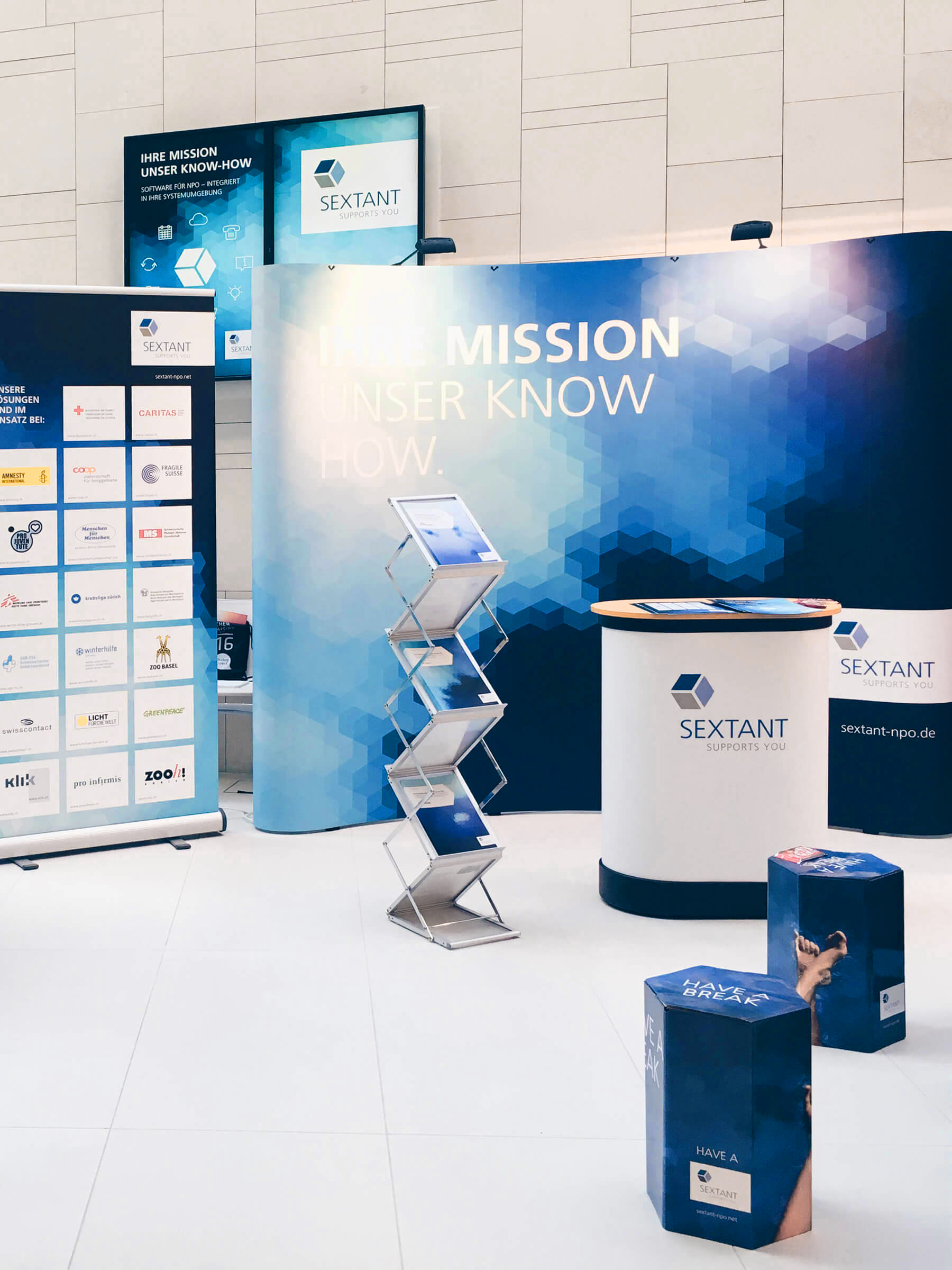 Sextant Messestand